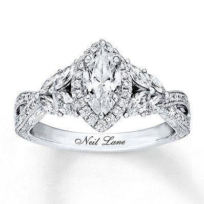 This Stunning Neil Lane Bridal Marquise Diamond Engagement Ring Will