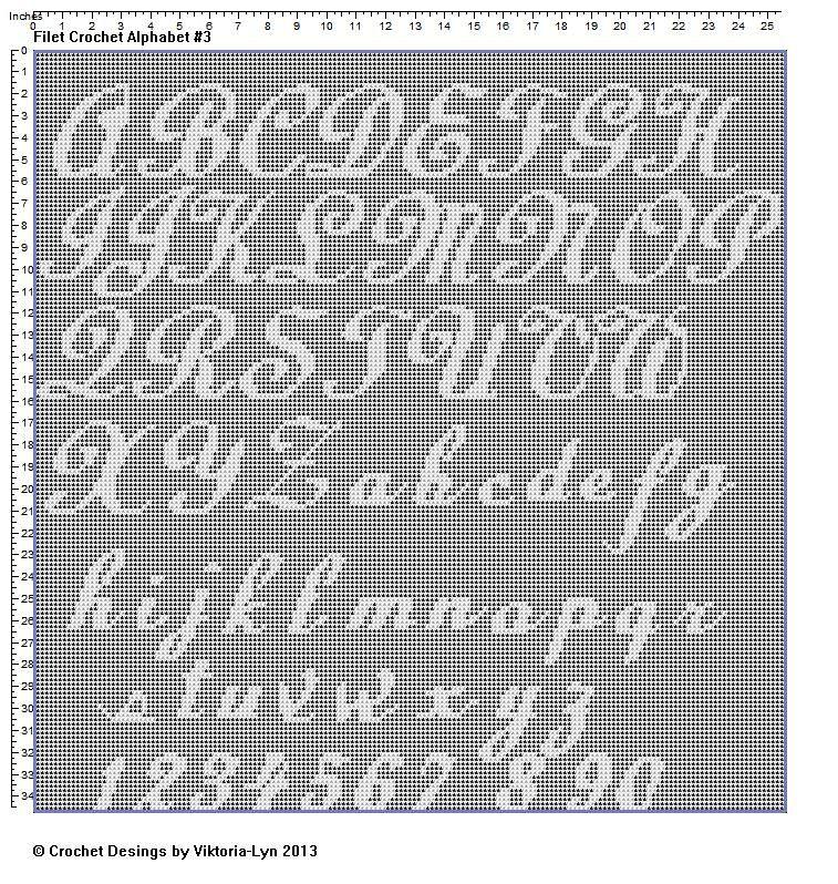 Ravelry: FREE Filet crochet Alphabet 3 by Viktoria-Lyn | Filet ...