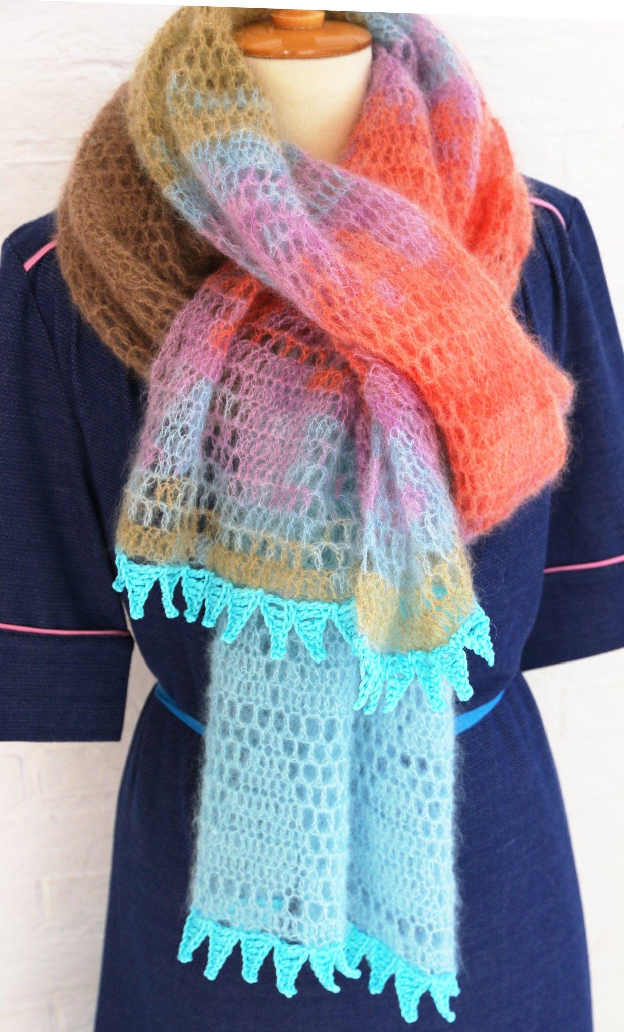 Gratis Patroon Silkhair Sjaal Crochet Shawls Wraps Pinterest