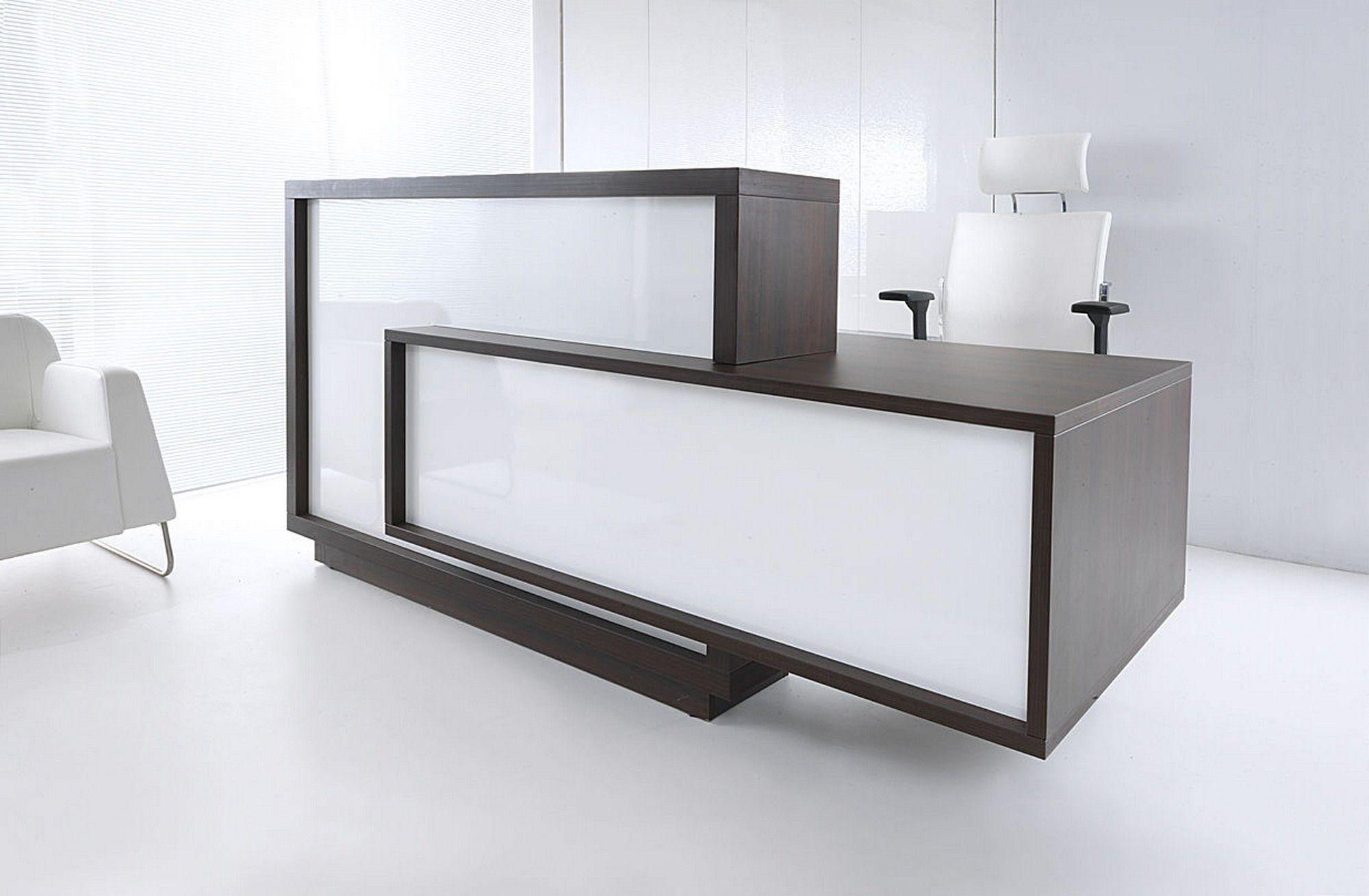 Home gt reception desks gt 8 curved maple glass top reception desk - Wood Glass Sleek Reception Desk