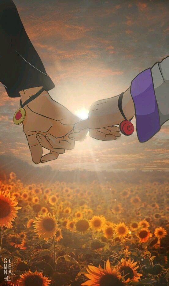 Naruto e Hinata mindinho #narutowallpaper