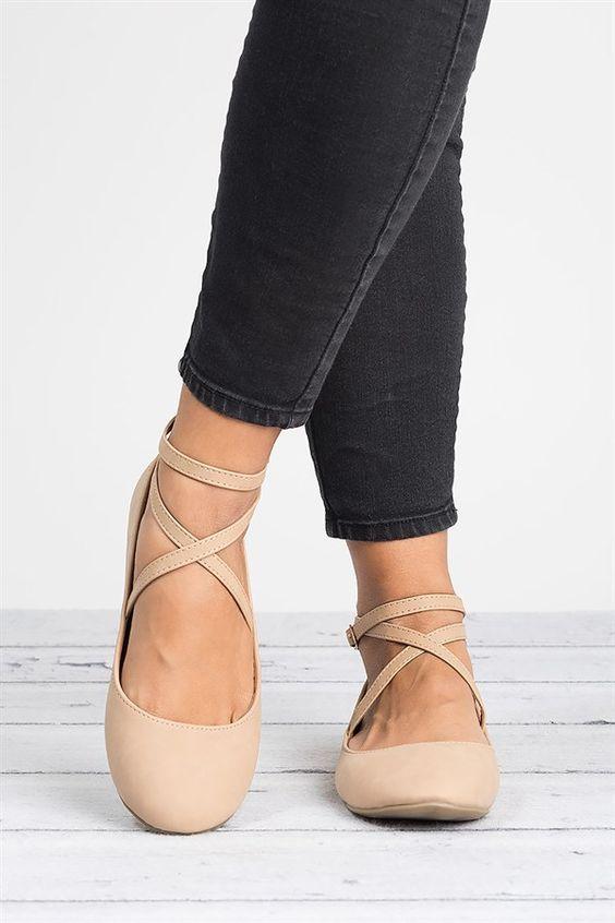 new concept 0a539 9a7f3 Criss Cross Ballerina Flats