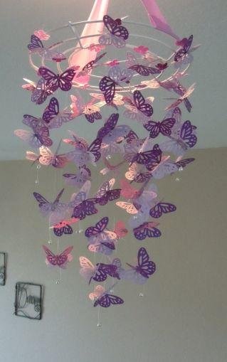 Monarch Butterfly Chandelier Mobile