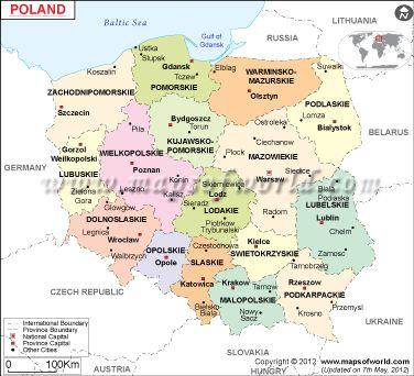 Poland Maps World Maps Pinterest Poland Map Poland And - Poland political map