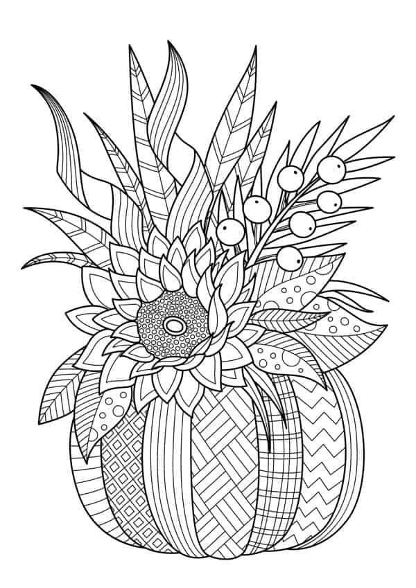 Relaxing Halloween Coloring Pages - Five Spot Green Living
