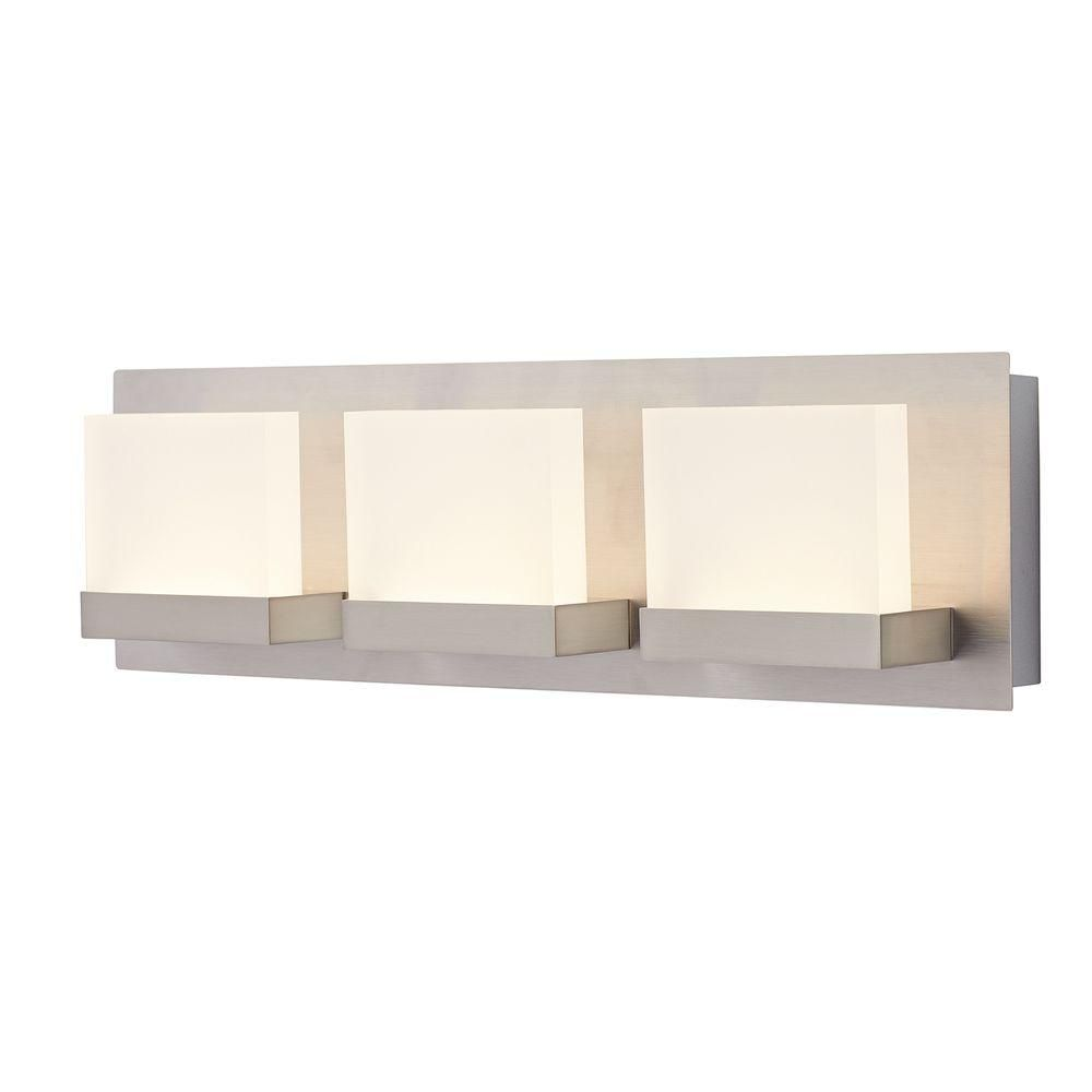 home decorators collection alberson collection 3light brushed nickel led bath bar light