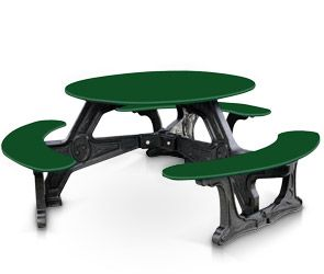 Round Picnic Table Recycled Plastic Belsoncom Products - Recycled plastic round picnic table