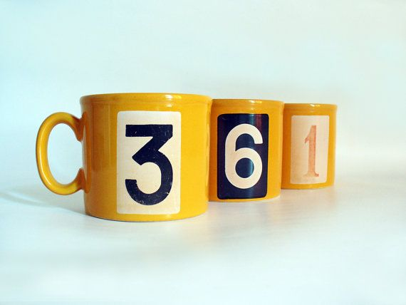 Staffordshire mugs  set of 3 by RetroDelia on Etsy