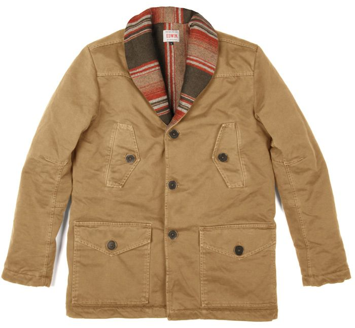 Watchman Jacket | Camel | Nomad Twill | Quilted and Blanket Lined