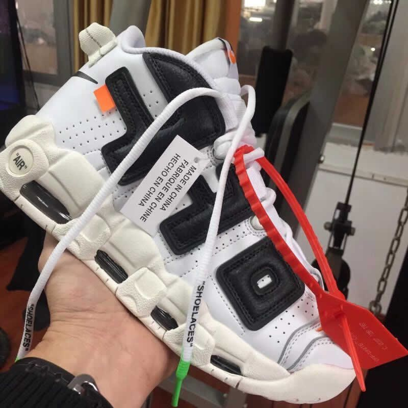 "Off White x Nike Air More Uptempo ""The Twelve"" White Black  b26b5de47"