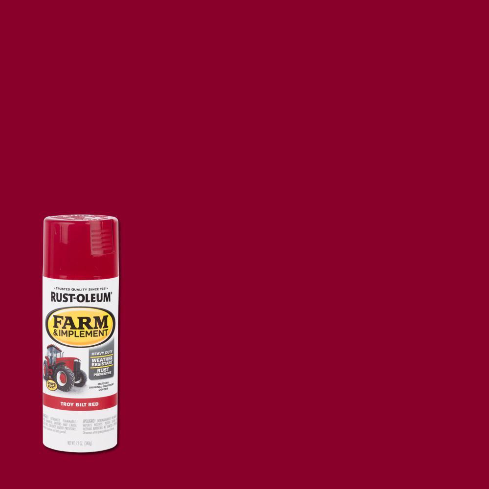 Rust Oleum 12 Oz Farm Equipment Gloss Troy Bilt Red Enamel
