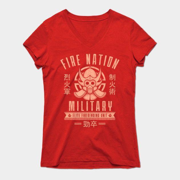 Fire Is Fierce Womens V-Neck T-Shirt