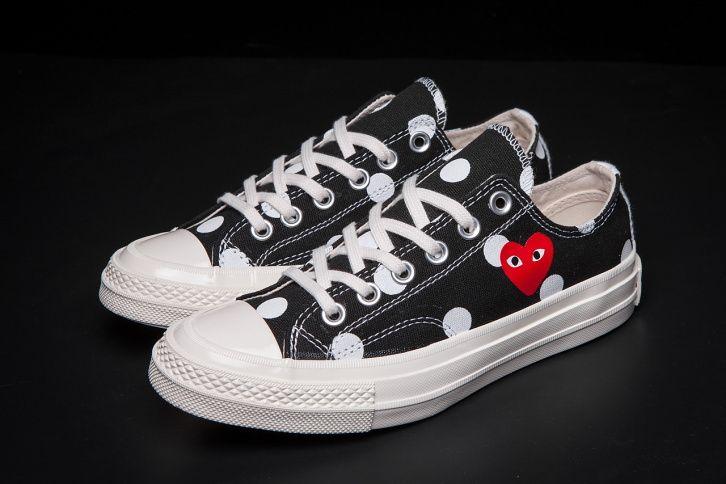 1beacd6a012561 Kawakubo Ling CDG Play x 1970s Converse Chuck Taylor All Star Polka Dot   converse  shoes