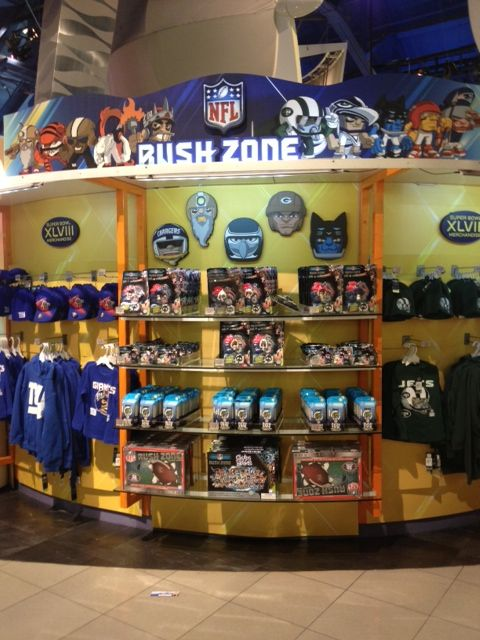 Nfl Rush Zone Event At Toys R Us In New York During The Super Bowl