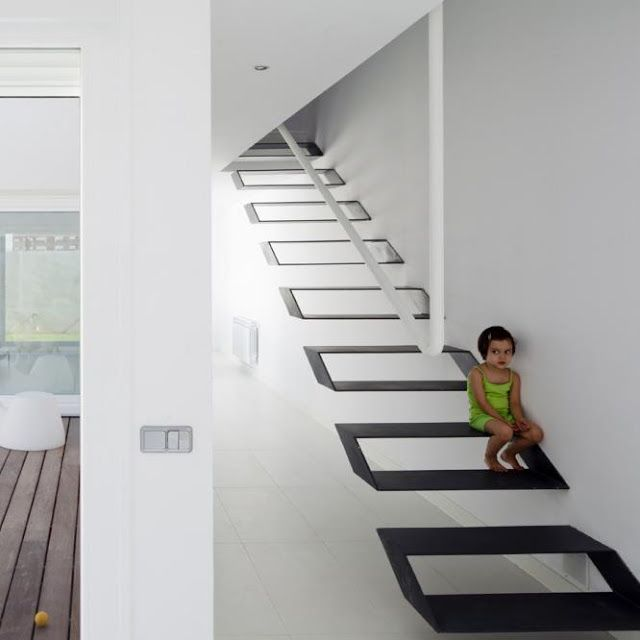 Escalera Flotante Muy Original Stairs Pinterest