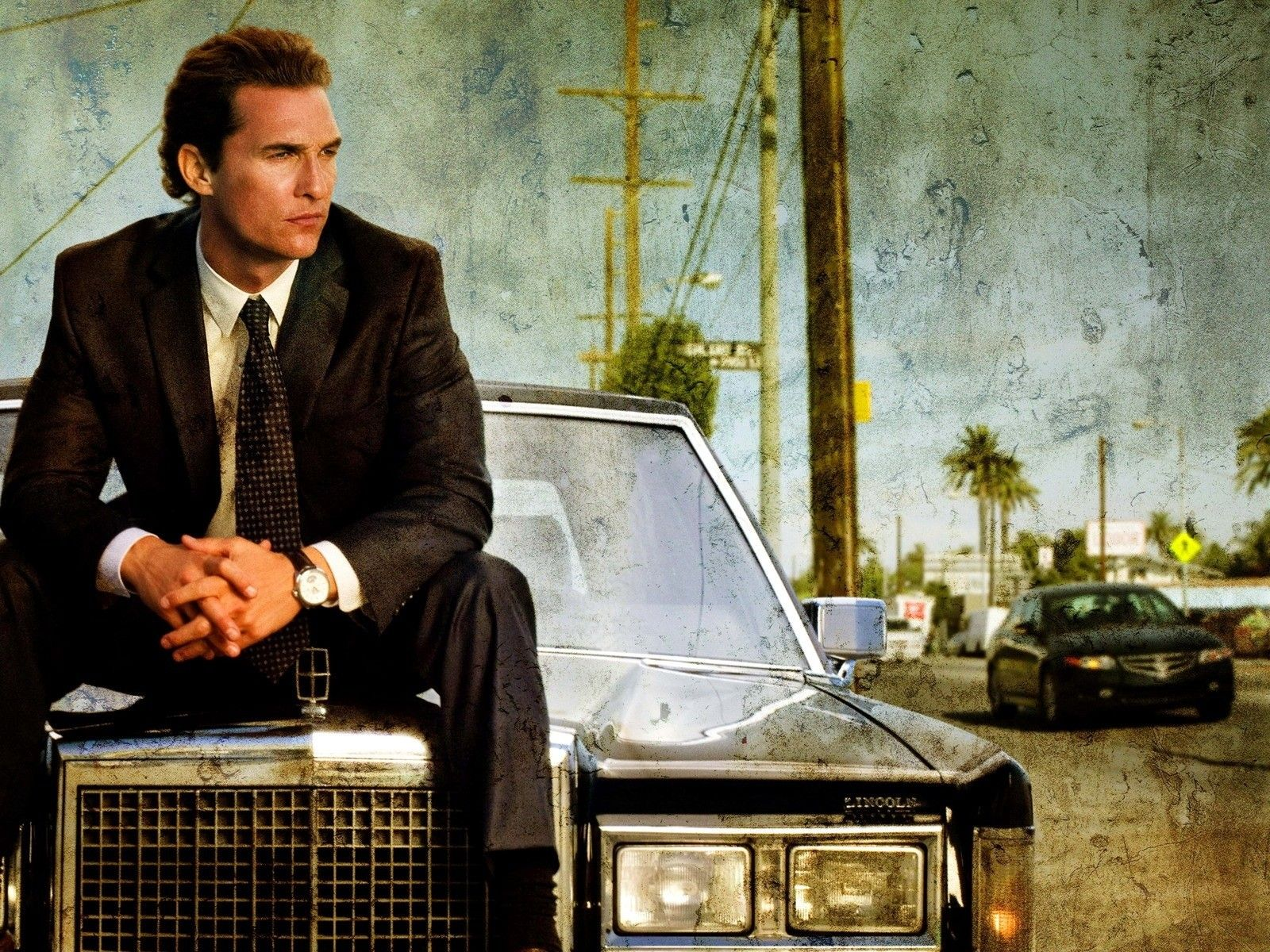 movies cars men The Lincoln Lawyer Matthew McConaughey ...