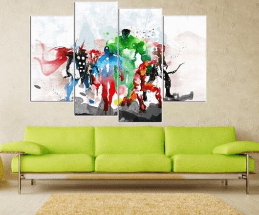 4 Panel \the Avengers\ Canvas Wall Art Marvel Rhpinterest: Superhero Home Decor At Home Improvement Advice