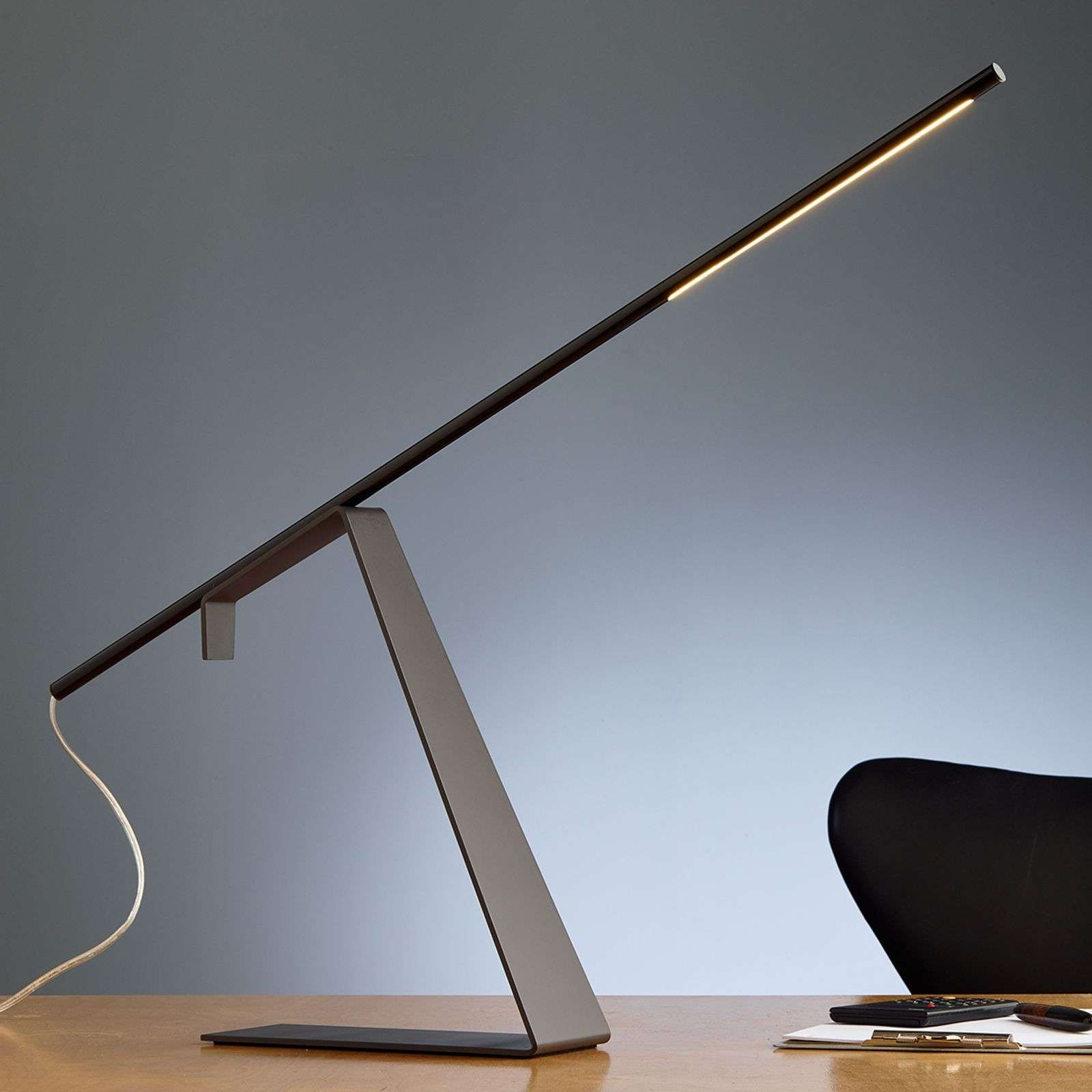 Chrome Plated Led Designer Table Lamp Jella By Tecnolumen Lamp Table Lamp Wooden Lamps Design