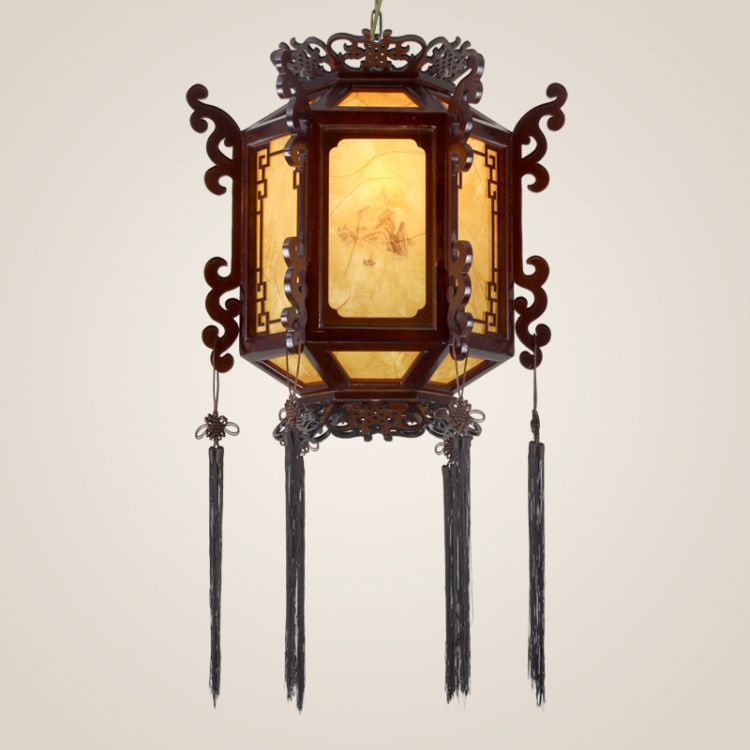 Chinese style pendant light classic lamps antique lanterns wooden