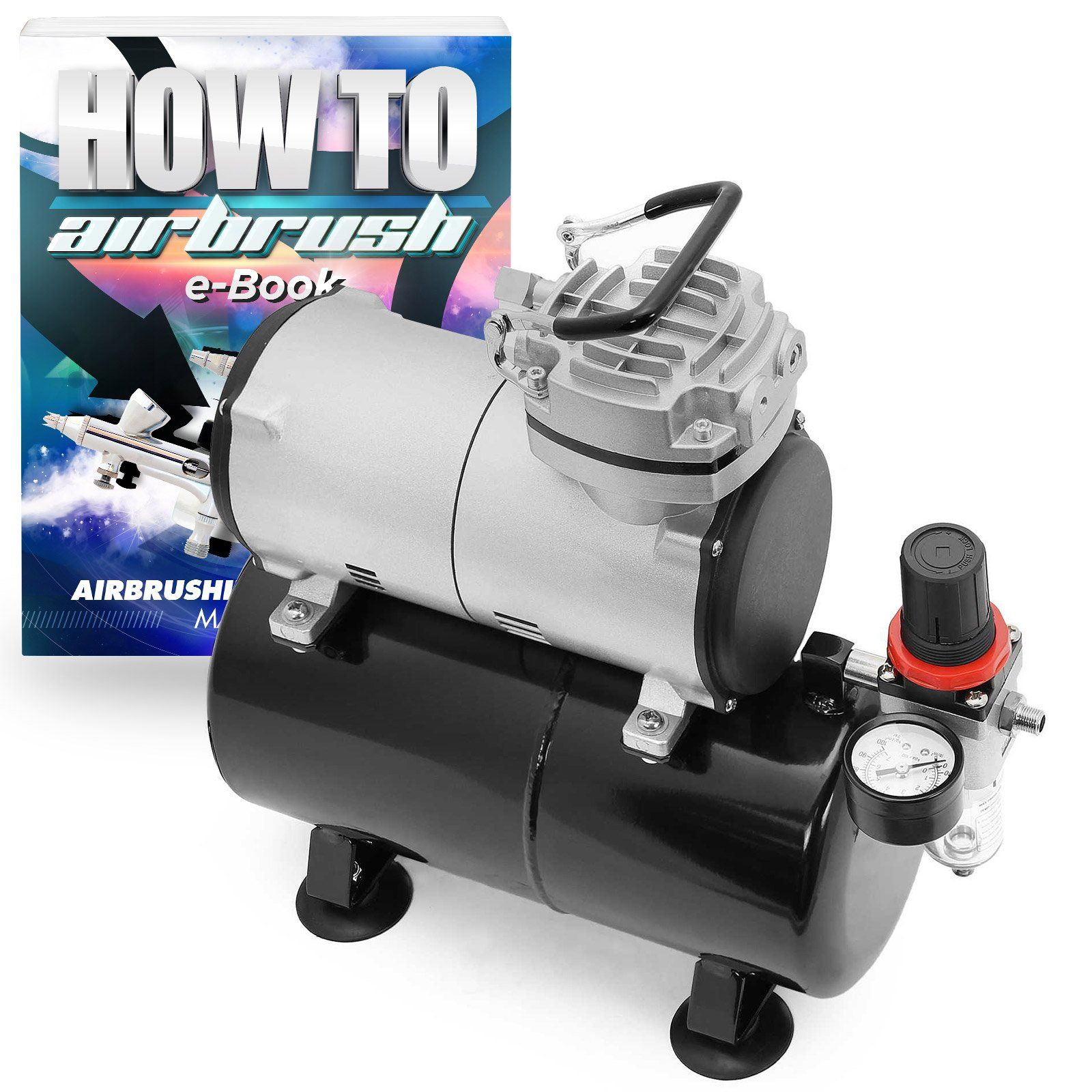 1/5 HP Airbrush Compressor Portable Quiet Hobby Oilless