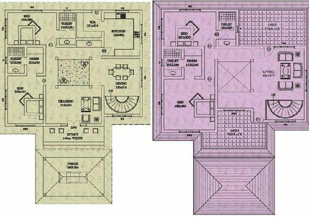 Nalukettu House Plan Kerala House Design Indian House Plans Chettinad House Simple chettinad house plan