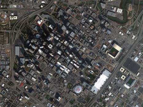 Houston In High Resolution From Space Houston High Resolution Imagery