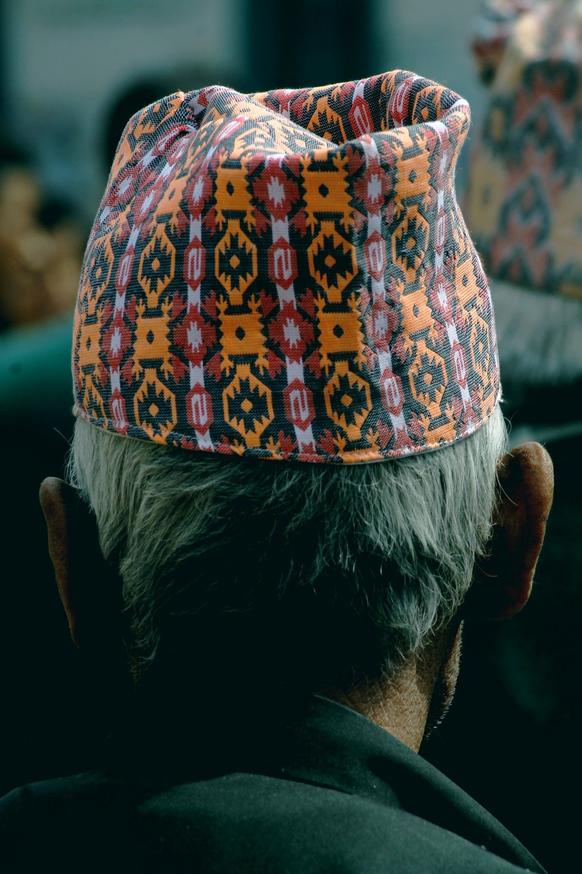Traditional topi (hat/cap) worn by men . Nepal