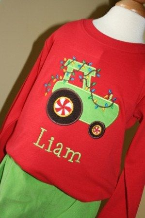 1d0275f36 Boys Christmas tractor tee by gigibabies on Etsy, $24.00 | Christmas ...