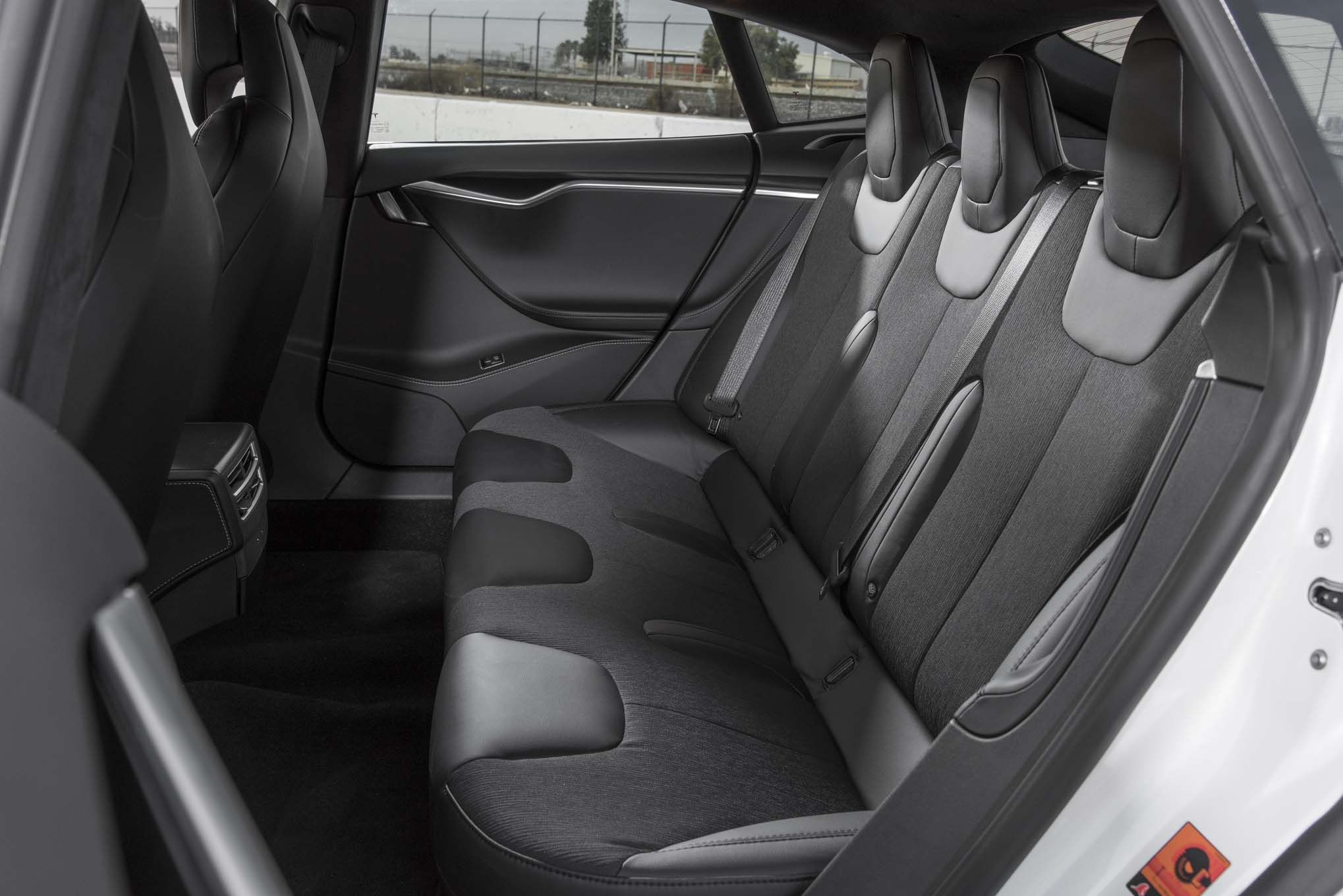 Delightful 2017 Tesla Model S Interior, Back Seats.