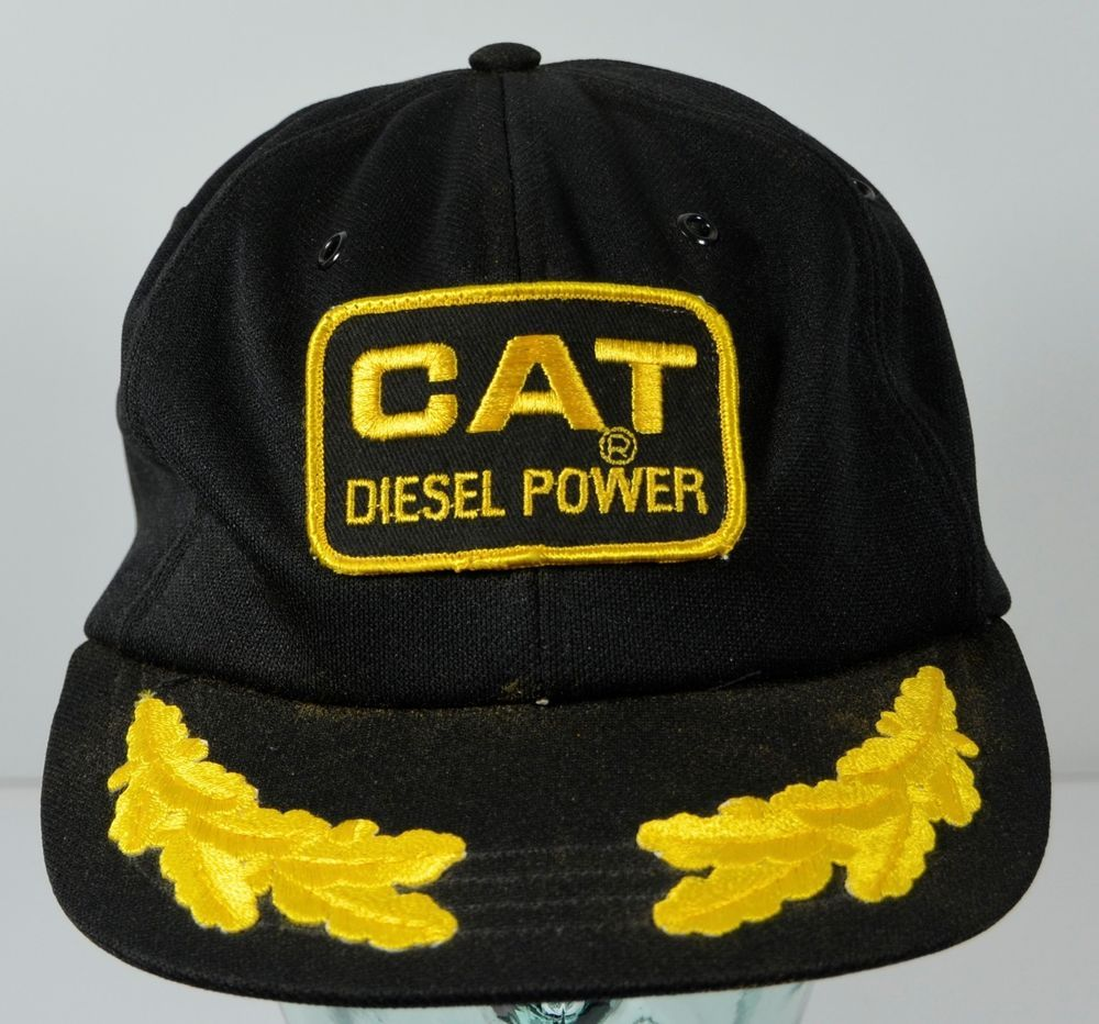 Details about Vintage CATERPILLAR DIESEL SnapBack Trucker