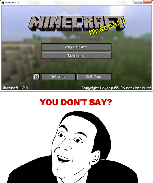 Photo of It's The Minecraft Edition