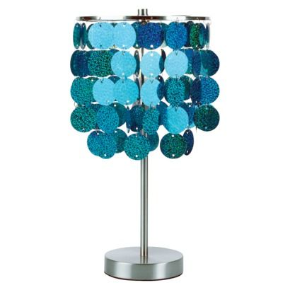Paillette Table Lamp Turquoise 37 99 She Says Perfect Lampen Tween Pailletten