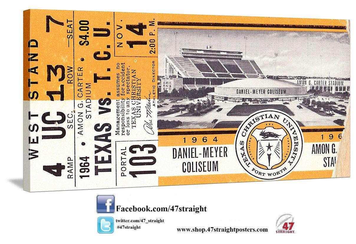 College football art. Available soon! 1964 Texas vs. TCU