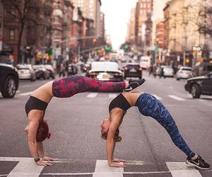 in the city  yoga poses arm workout