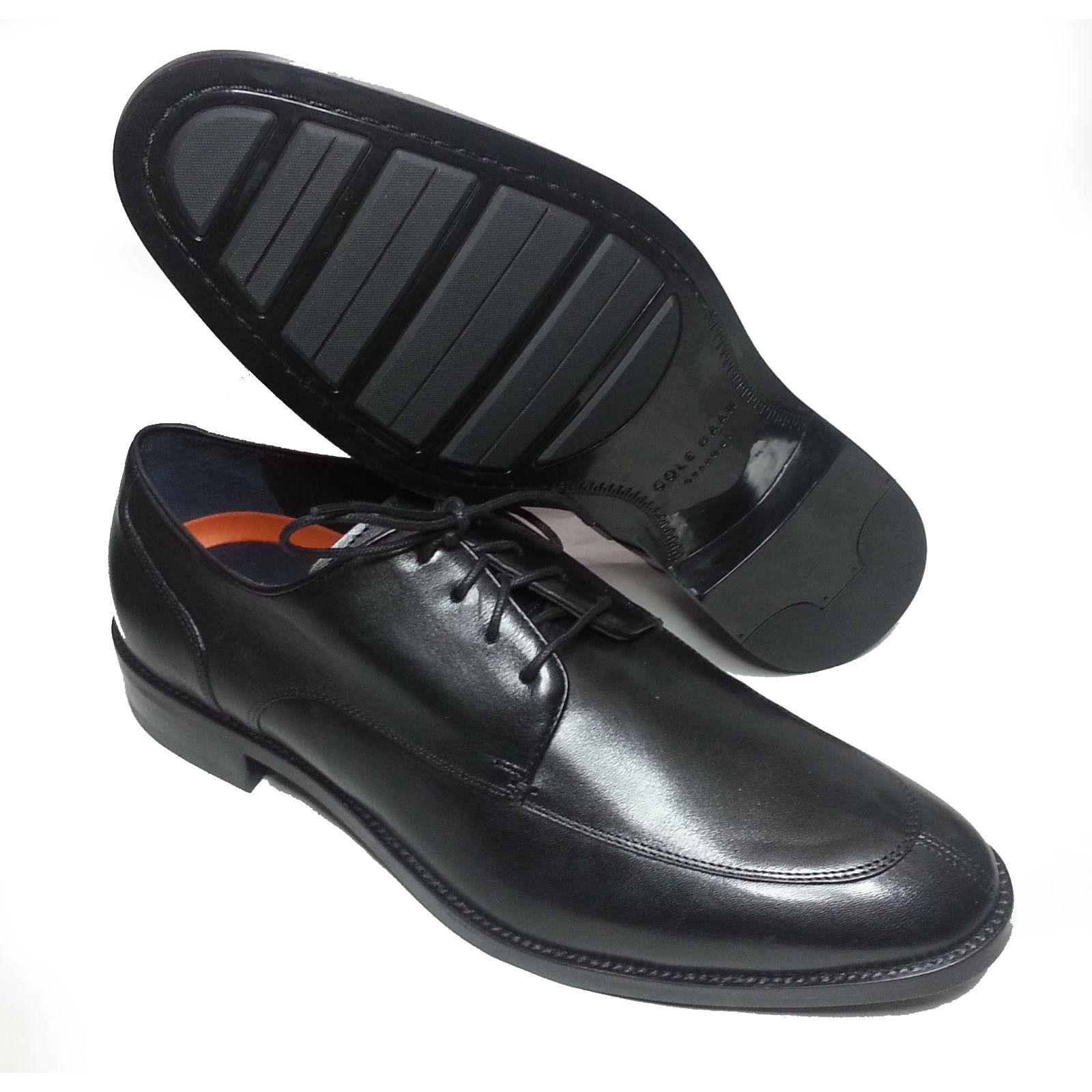 56e134cbafd8  ebay Cole Haan Men Size 10 Black leather shoes Lenox HILL SPLIT OX Apron  Split