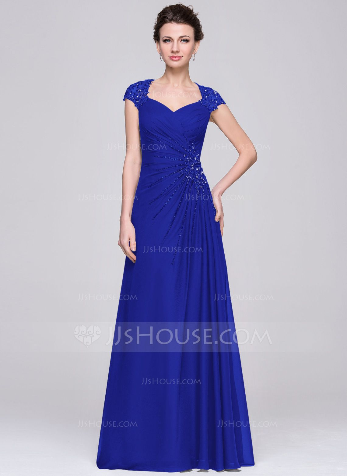 A-Line/Princess Sweetheart Floor-Length Chiffon Mother of the Bride ...