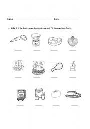 Where Does It Come From | Vocabulary worksheets > Food > Where ...