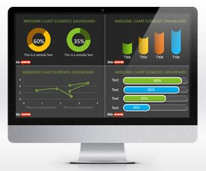 free dashboard powerpoint template is a free presentation dashboard