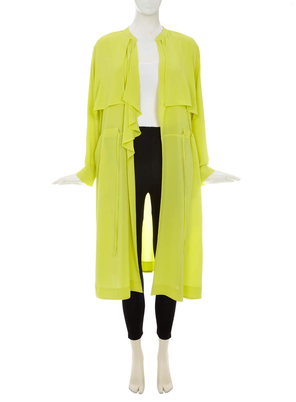 Collection Lime Green Waterfall Trench Coat - Evans | S/S Fashion ...