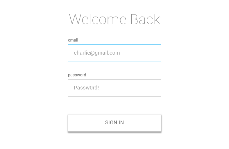 using react and xstate to build a sign in form