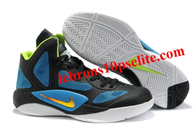 Nike Zoom Hyperfuse 2011 Black/Blue/White/Neon Yellow