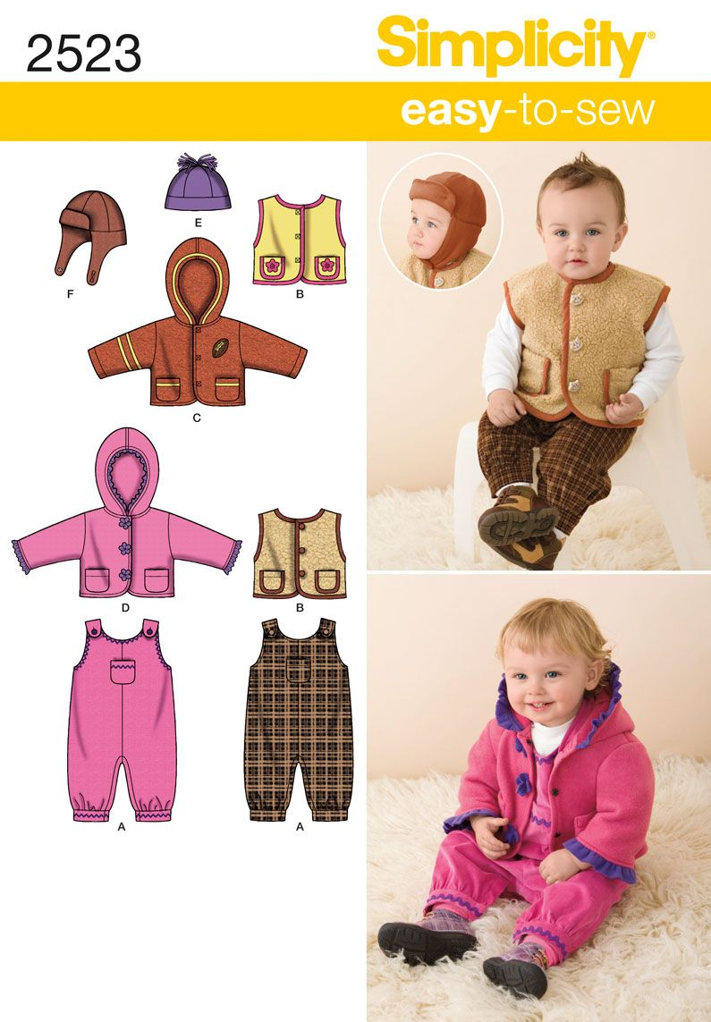 Simplicity 2523 from Simplicity patterns is a Babies Sportswear ...