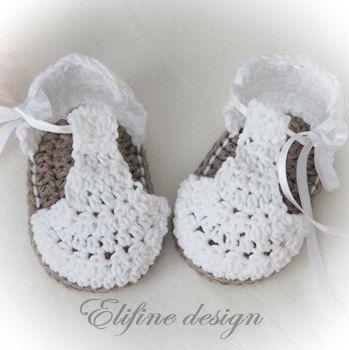 CROCHET PATTERN,crochet baby booties no34,crochet baby sandals ...