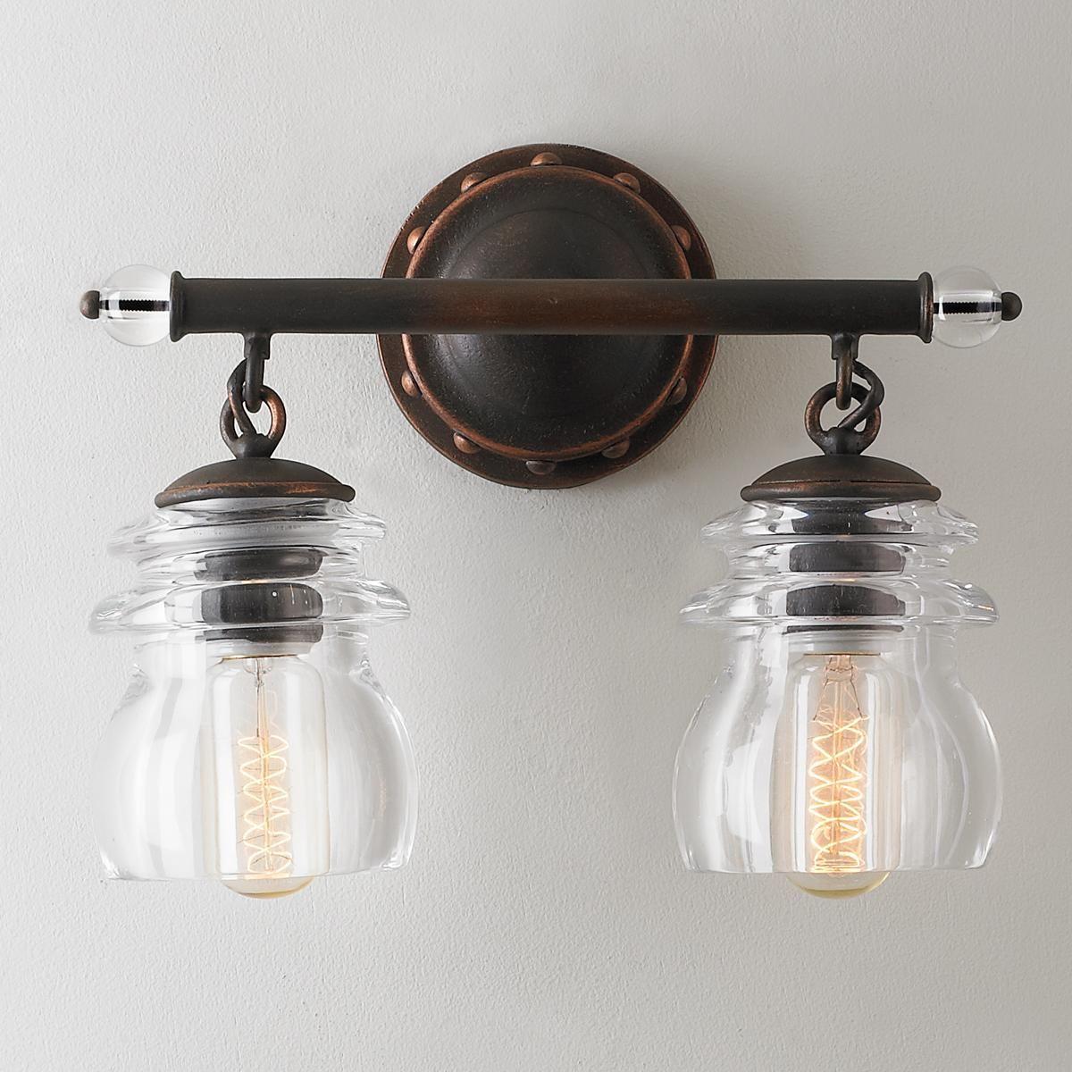interesting bathroom light fixtures%0A Insulator Glass  Light Bath Light