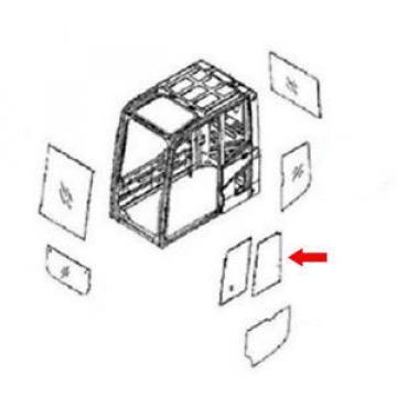 20Y-54-52840 Bulgaria Rear Door Slider Glass Fits Komatsu