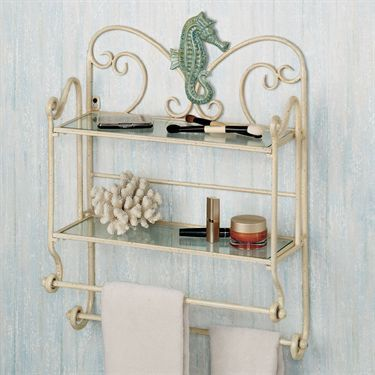 Sea Breeze Bath Wall Shelf Organizer | Breeze, Shelf organizer and Bath