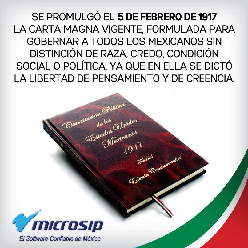 5 de febrero, día de la Constitución Mexicana.