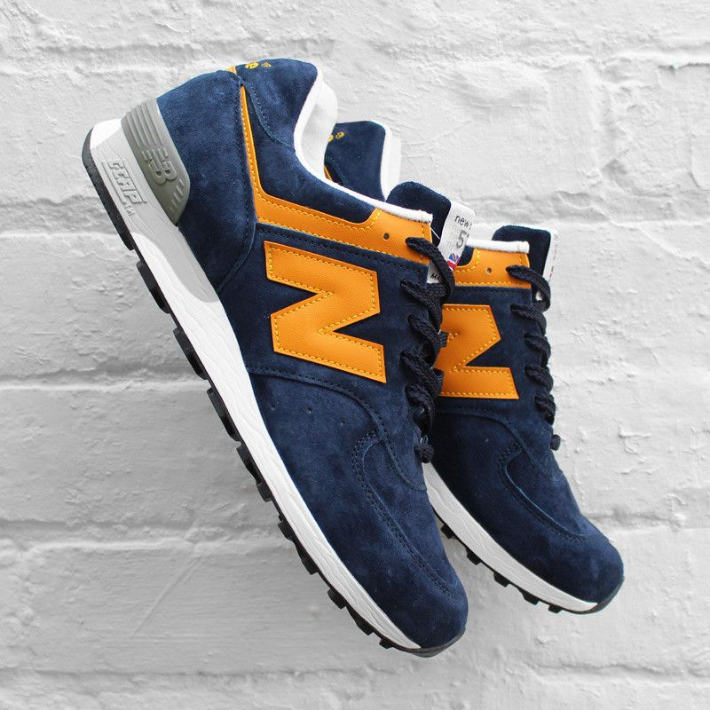 New Balance M576PBY: Navy/Yellow