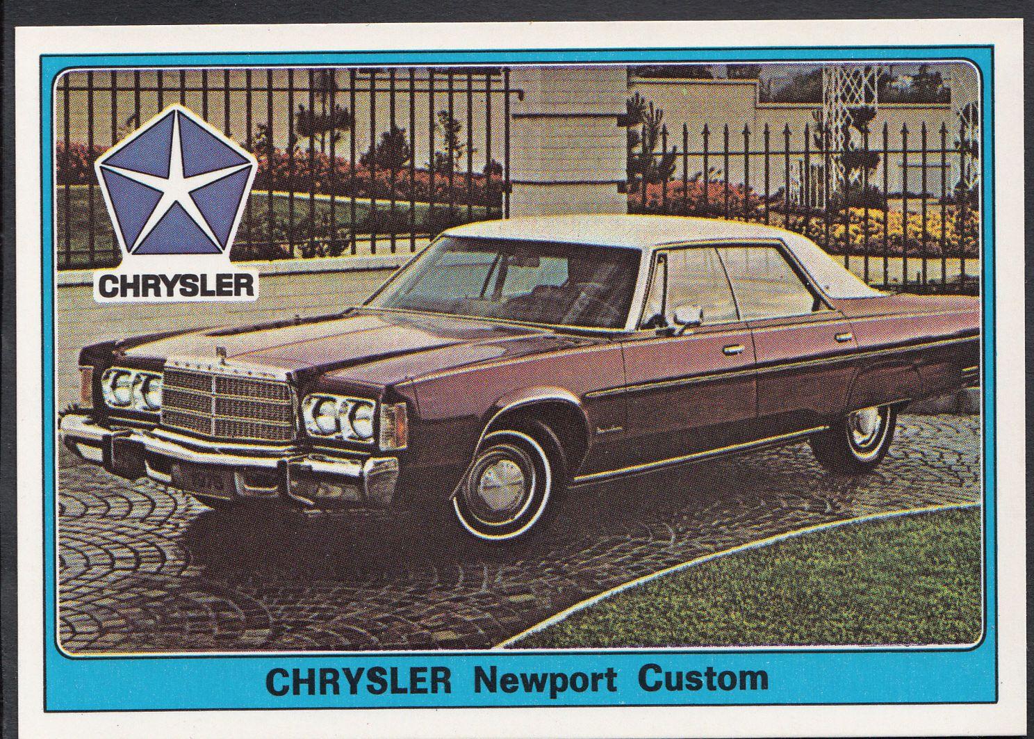 Panini Super Auto 1977 Sticker - No 79 - Vintage Car - Chrysler Newport Custom | eBay