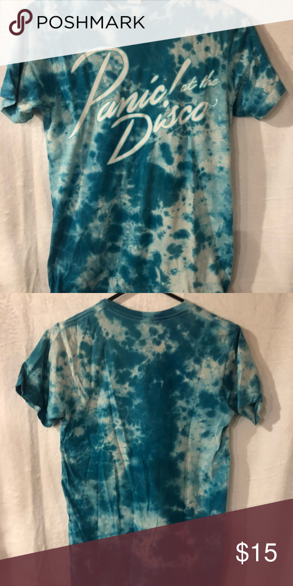 16fba1d23 panic! at the disco tie dye shirt blue tie dye panic! at the disco shirt  from hot topic! Hot Topic Shirts Tees - Short Sleeve